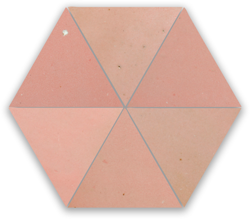 Zellige Rose Doux Triangle