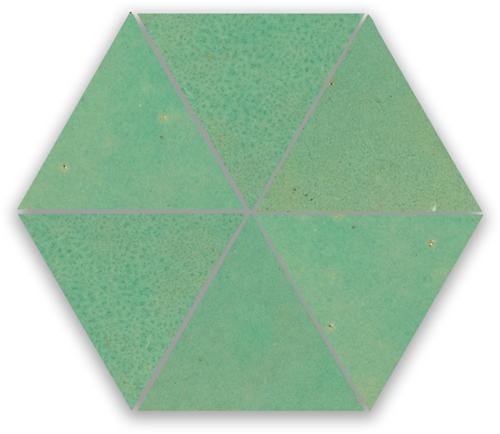 Zellige Turquoise Triangle