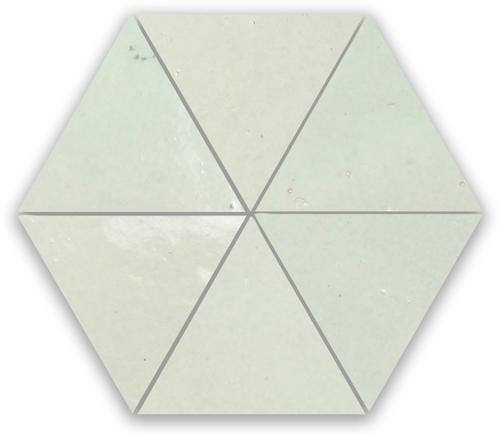 SAM Zellige Vert Clair Triangle