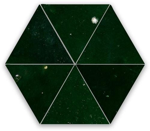 SAM Zellige Vert Mousse Triangle