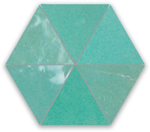 SAM Zellige Vert Turquoise Triangle