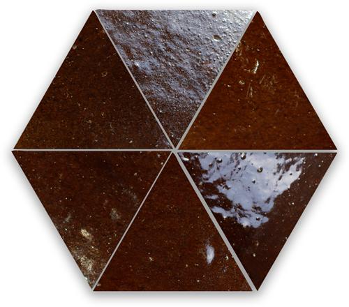 Zellige Marron Triangle