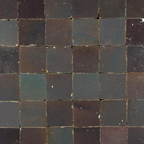Zellige Gris Aubergine 5x5cm