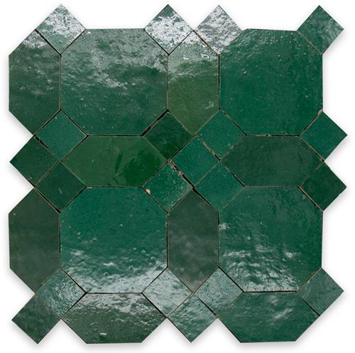 Zellige Vert Foncee D'Art